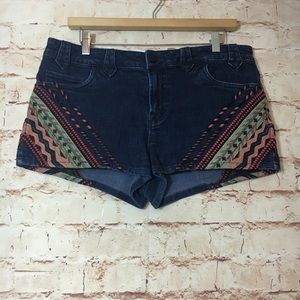 BDG Aztec Print Denim Shorts